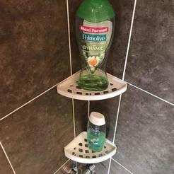 Imprimir en 3D gratis Bricolaje en casa - Estante de la esquina de la ducha, 3dsketcha
