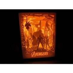 Download free 3D printer files lamp the avengers, tecnoculebras