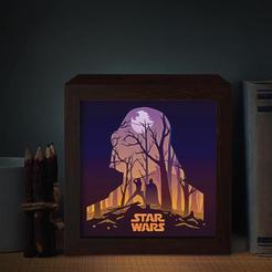 Descargar Modelos 3D para imprimir gratis star wars lamp ligth box, tecnoculebras