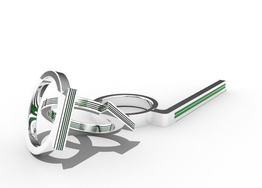 rings.jpg Download free STL file Anillos en oro blanco y esmeralda • 3D print object, Angie22