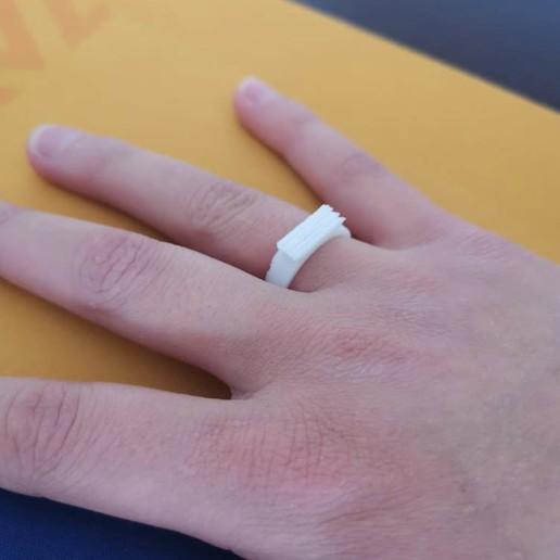 ring 3.jpg Download free STL file Anillos en oro blanco y esmeralda • 3D print object, Angie22