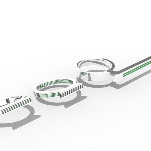1.jpg Download free STL file Anillos en oro blanco y esmeralda • 3D print object, Angie22
