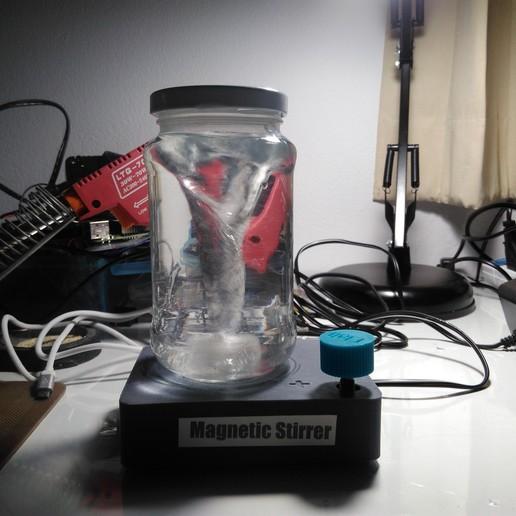 Download free 3D printing designs Magnetic Stirrer + Stir Bar, AppliedTechnologyLab