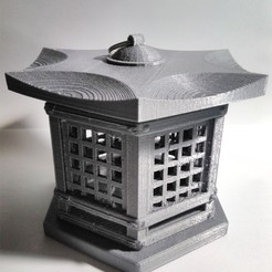 Download free STL files Japanese Lantern Replica, AppliedTechnologyLab