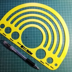 Download free 3D printer templates Custom Semi-Circle Ruler/Template, AppliedTechnologyLab