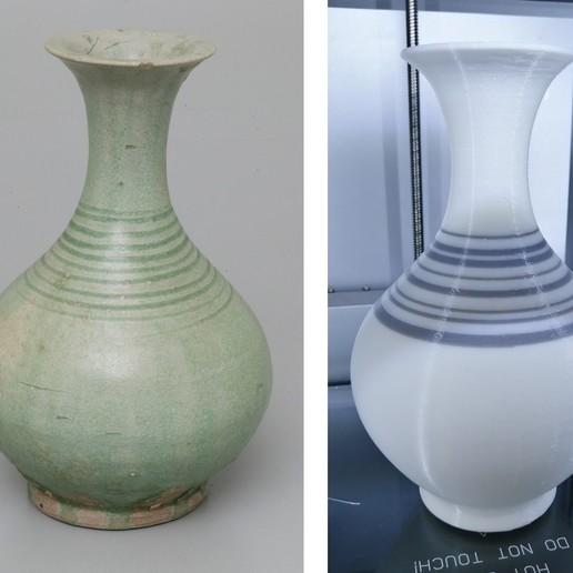 Download free 3D printer model Thai Sawankhalok Bottle (14th Century) Replica, AppliedTechnologyLab