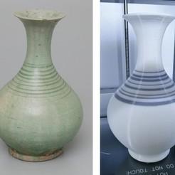 Blender_Vs_Reference.jpg Télécharger fichier STL gratuit Réplique de la bouteille thaïlandaise de Sawankhalok (14e siècle) • Objet pour impression 3D, AppliedTechnologyLab