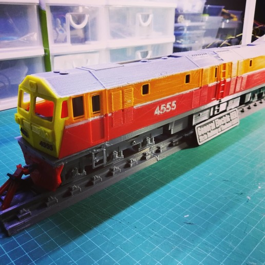 Download free 3D print files O-Scale General Electric GEA Locomotive (State Railway of Thailand), AppliedTechnologyLab