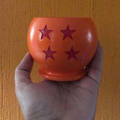 122499838_1633730193474655_8766160563981878461_n.jpg Download STL file 4 star dragon ball pot • 3D printing design, Alejandro90