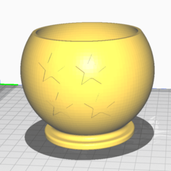 esfera.png Download STL file 4 star dragon ball pot • 3D printing design, Alejandro90