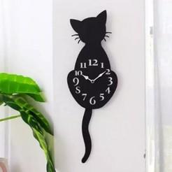 Download 3D printing files Mobile tail cat clock, Ruth_97