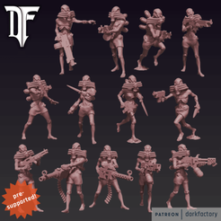 cultists_ps.png Download STL file Cult of the Dread Gateway • 3D printing template, dorkfactory