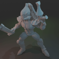 Download free 3D printing files Space Elf Attacking Poison Lurker, dorkfactory