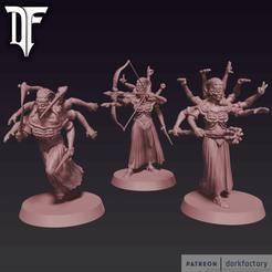 _spider_witches.png Télécharger fichier STL Spiderwitch Coven • Modèle pour imprimante 3D, dorkfactory