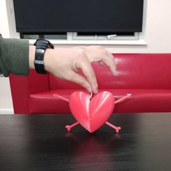 Download free OBJ file Heart Coin Bank • 3D printing object, Cybersaurus-Sapiens