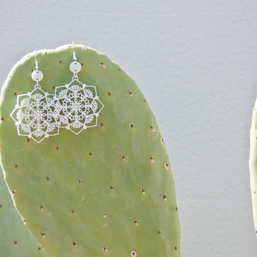 Download 3D printer designs Mandala earrings, botanicshapes