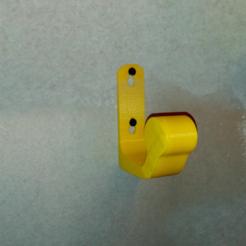 Download free 3D printer designs Wall mounted motorcycle helmet hook, Natsukawa