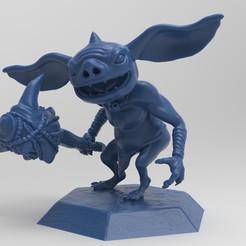bokotest.2.jpg Télécharger fichier STL La légende de Zelda Bokoblin avec le club Dragonbone Boko • Modèle pour imprimante 3D, retrosquid