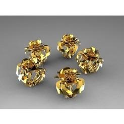 Descargar modelos 3D gratis Bague Fleur d'Or, degivryclement