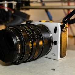 Download free 3D printer designs canon ef to ef-m adapter, BritsFabrication