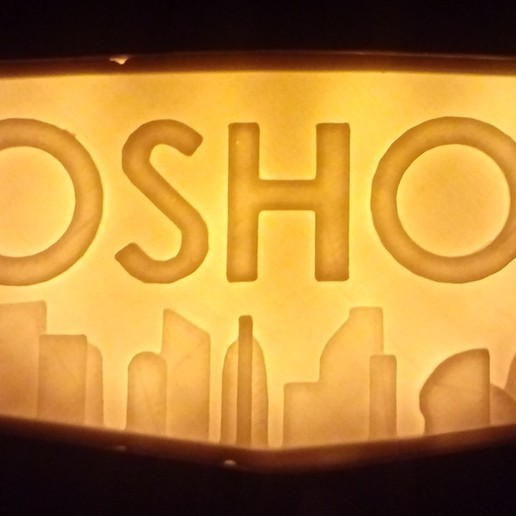 Download free 3D printer templates backlight for bioshock logo, BritsFabrication