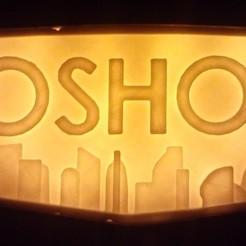 Télécharger fichier impression 3D gratuit Rétro-éclairage pour le logo de bioshock, BritsFabrication