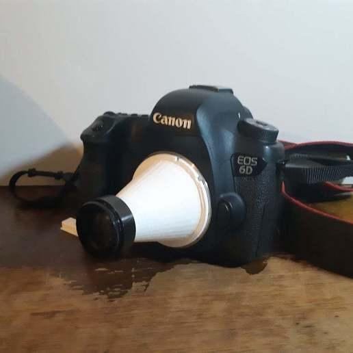 Download free 3D printer templates Polaroid land camera lens to canon ef, BritsFabrication