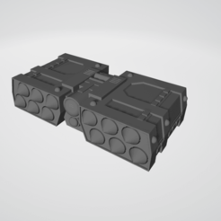 Rack 1.png Download free STL file Sci-Fi Missile Rack • 3D printing model, Grayphobia