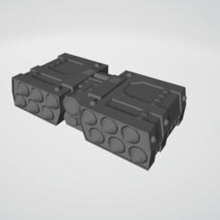 Rack 1.png Download free STL file Sci-Fi Missile Rack v2 • 3D printing model, Grayphobia