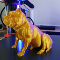 4.PNG Download STL file American Bully sitting • Template to 3D print, Materialis3D