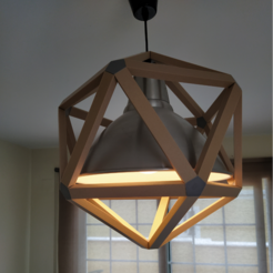 Download STL Icosahedron cover for Ikea Photo Lamp, Materialis3D