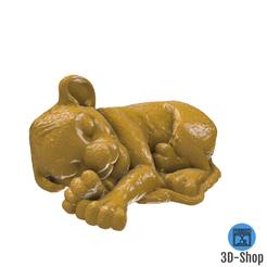 Download 3D printer designs Simba sleeping, 3dshop62