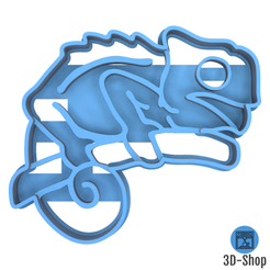 cameleon.png Download STL file Cameleon Coin Cutter • 3D printing template, 3dshop62
