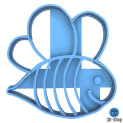 abeille.png Télécharger fichier STL Emporte pièce Abeille • Design imprimable en 3D, 3dshop62