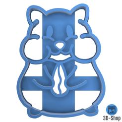 Hamster.png Télécharger fichier STL Emporte pièce Hamster • Objet pour impression 3D, 3dshop62