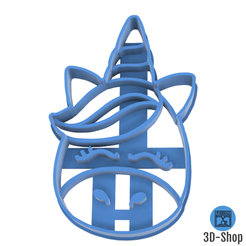 licorne.png Download STL file Unicorn cookie cutter • 3D print object, 3dshop62