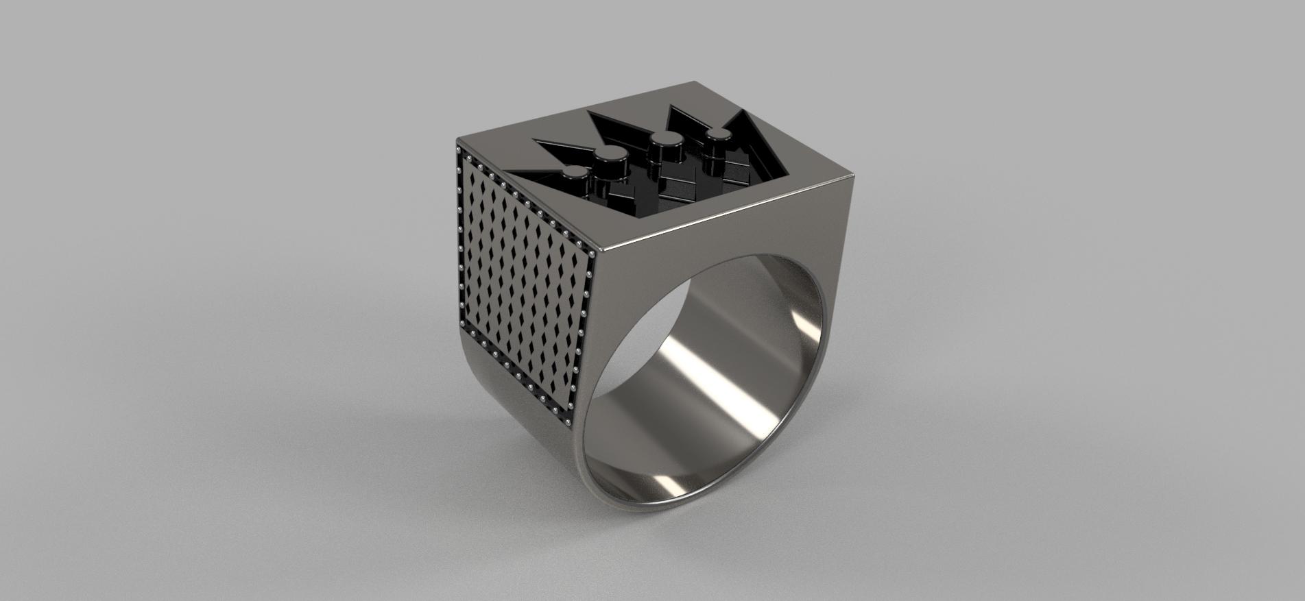 Мужское кольцо с короной v4.png Télécharger fichier OBJ gratuit Bague de la couronne Brutal • Objet pour imprimante 3D, quaddalone