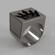 Download 3D printer designs Brutal Crown Ring, quaddalone