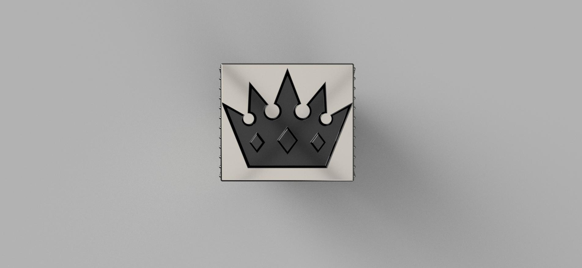 Мужское кольцо с короной v2.png Télécharger fichier OBJ gratuit Bague de la couronne Brutal • Objet pour imprimante 3D, quaddalone