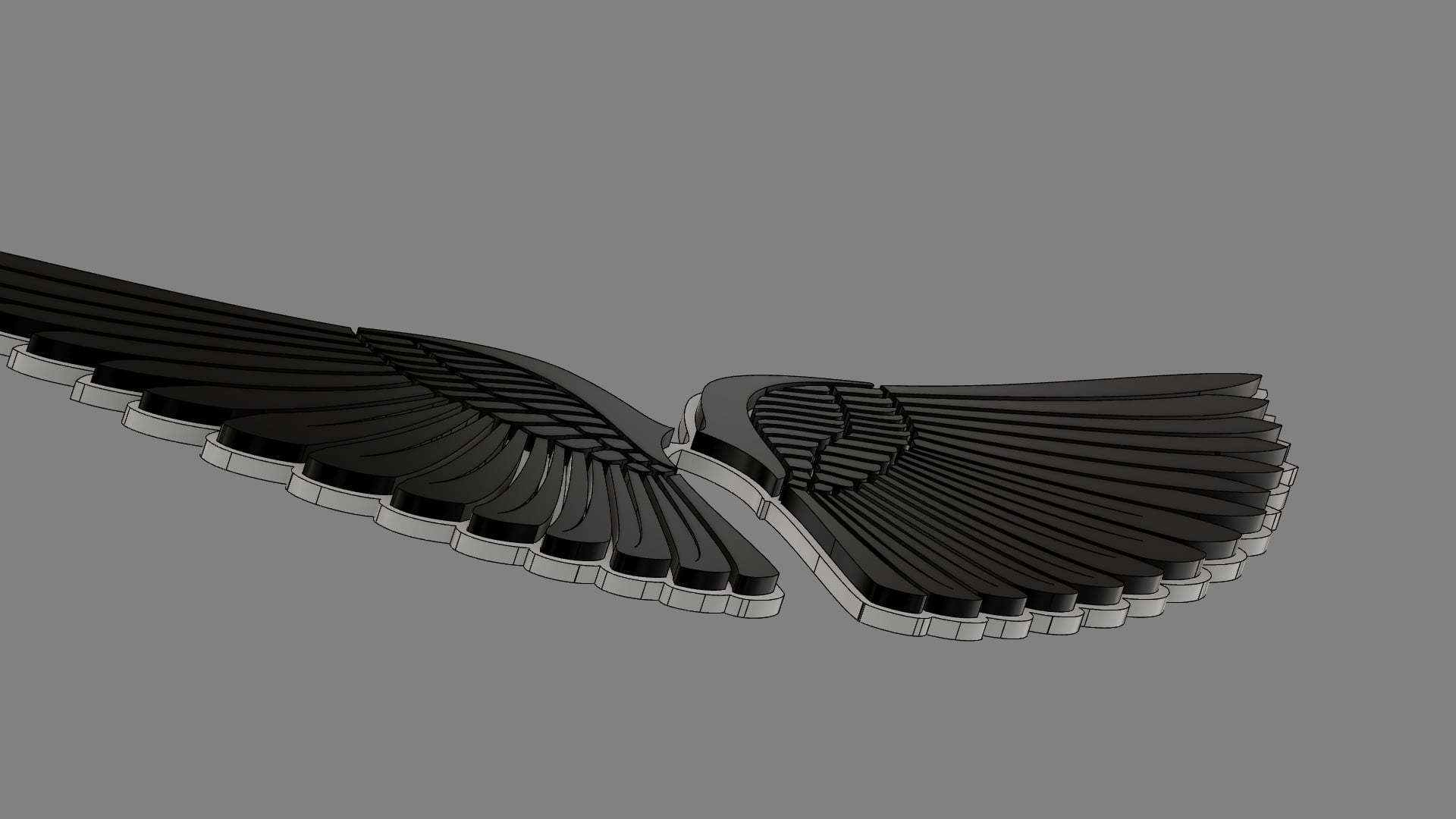3.jpg Download free OBJ file Angel Wings • Object to 3D print, quaddalone