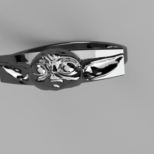 Baby_Yoda_Ring_17mm_Cut(FINAL)7.png Télécharger fichier STL gratuit Bébé Yoda Ring • Plan pour imprimante 3D, quaddalone