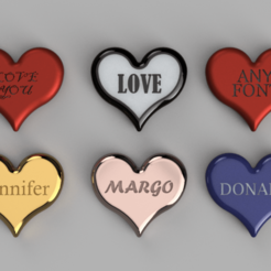 Download free 3D printing templates Valentine Day Heart any Fonts, quaddalone