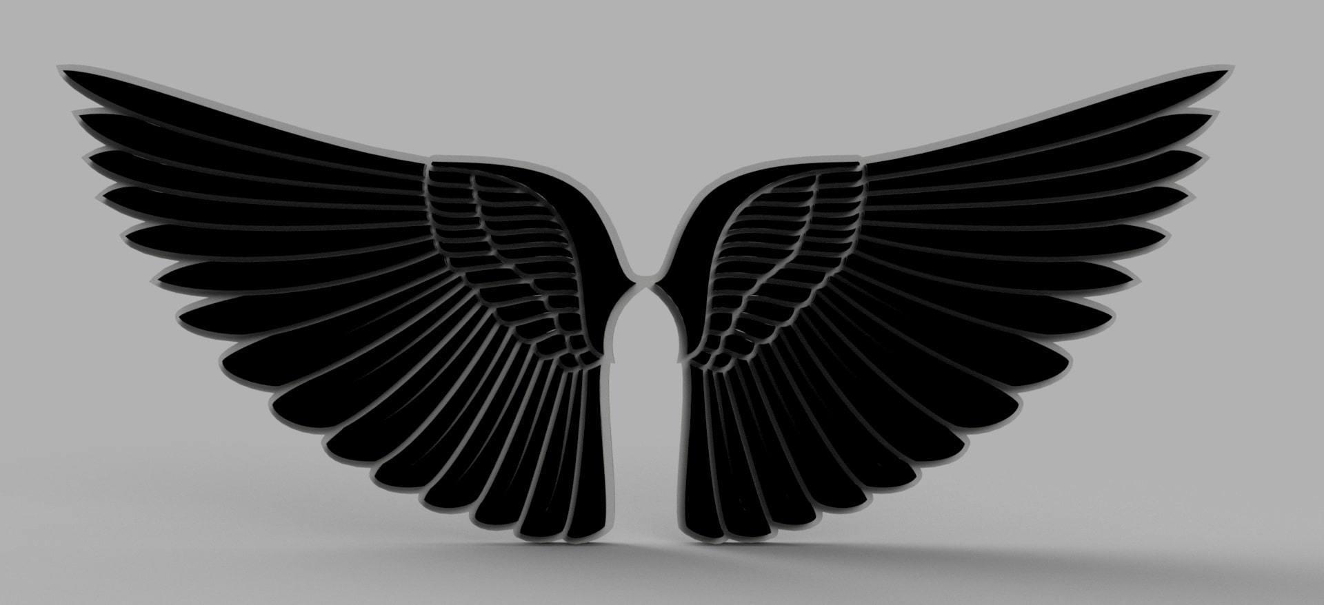 1.jpg Download free OBJ file Angel Wings • Object to 3D print, quaddalone