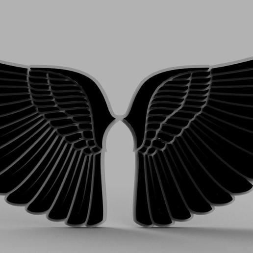 Télécharger fichier OBJ gratuit Ailes d'ange • Design pour impression 3D, quaddalone