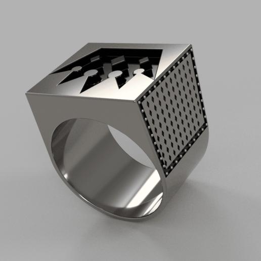 Мужское кольцо с короной v5.png Télécharger fichier OBJ gratuit Bague de la couronne Brutal • Objet pour imprimante 3D, quaddalone