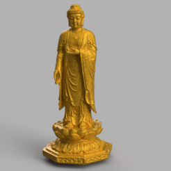 Download free STL file Buddha • Model to 3D print, quaddalone