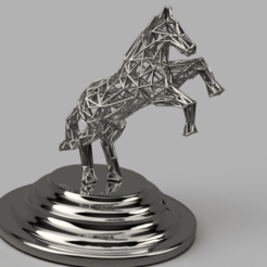 Télécharger fichier impression 3D gratuit Low Poly Horse, quaddalone