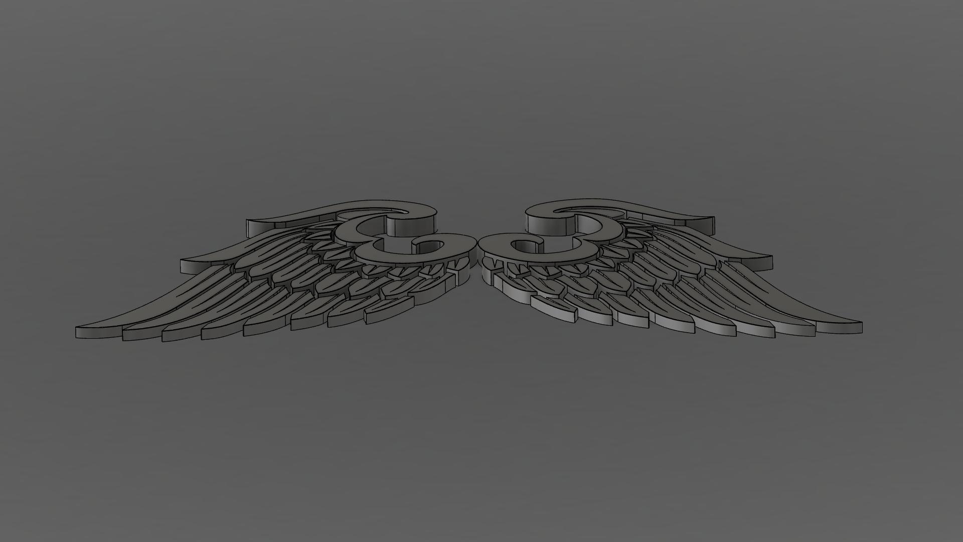 3.png Download free OBJ file Wings • 3D print model, quaddalone