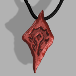 Saurfang_Necklace(Hole) .png Download free OBJ file Saurfang Necklace • 3D print design, quaddalone