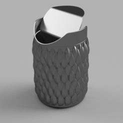 TrashBox 2.png Download free OBJ file Scaly trash bin (Trash bucket) • 3D printable design, quaddalone